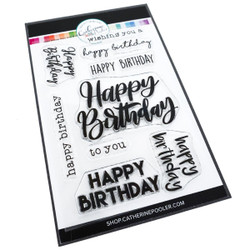 Happy Birthday Many Ways, Catherine Pooler Clear Stamps - 819447027774