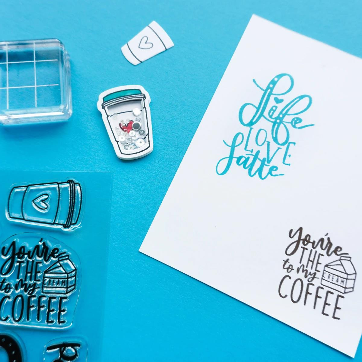 Life, Love, Latte, Catherine Pooler Clear Stamps - 819447025909