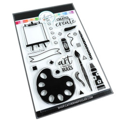 Art Has No Rules, Catherine Pooler Clear Stamps - 819447027682