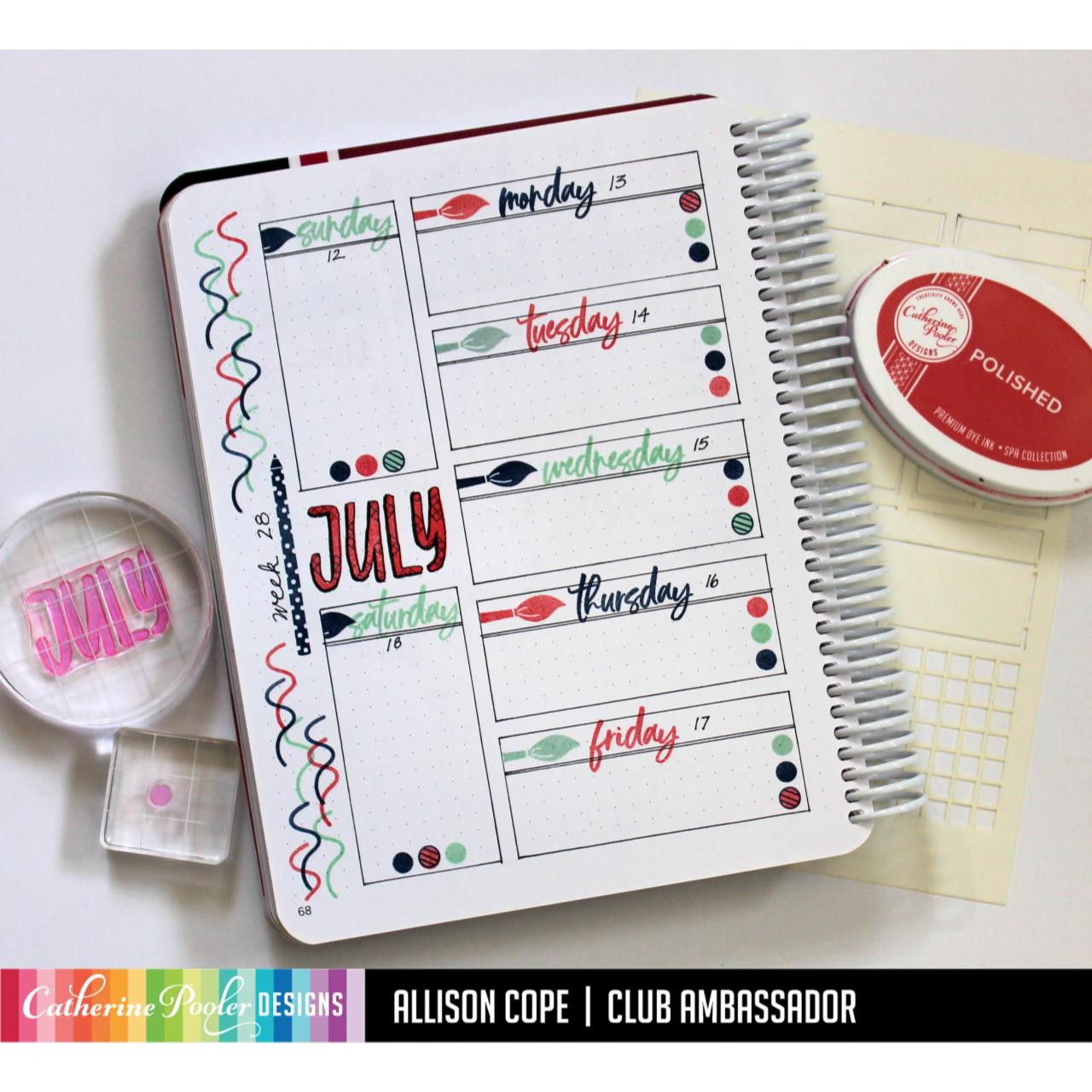 July, Catherine Pooler Clear Stamps - 819447027675