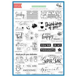 Thinking of You, The Stamping Village Clear Stamps -