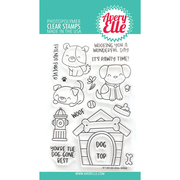 Dog-Gone, Avery Elle Clear Stamps - 811568028784