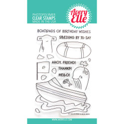 Peek-A-Boo Boat, Avery Elle Clear Stamps - 811568028760