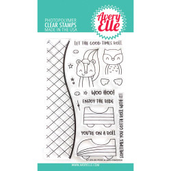 Peek-A-Boo Coaster, Avery Elle Clear Stamps - 811568028746