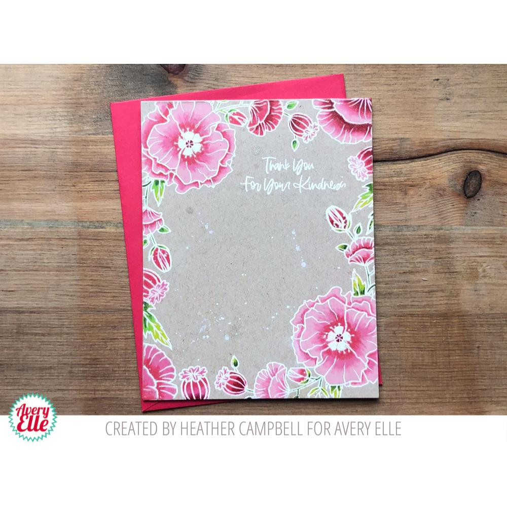Poppies, Avery Elle Clear Stamps - 811568028685