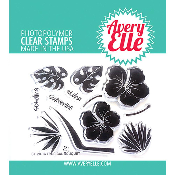 Tropical Bouquet, Avery Elle Clear Stamps - 811568028661