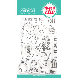 Unicycle, Avery Elle Clear Stamps - 811568028647