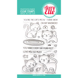 Whiskers, Avery Elle Clear Stamps - 811568028807