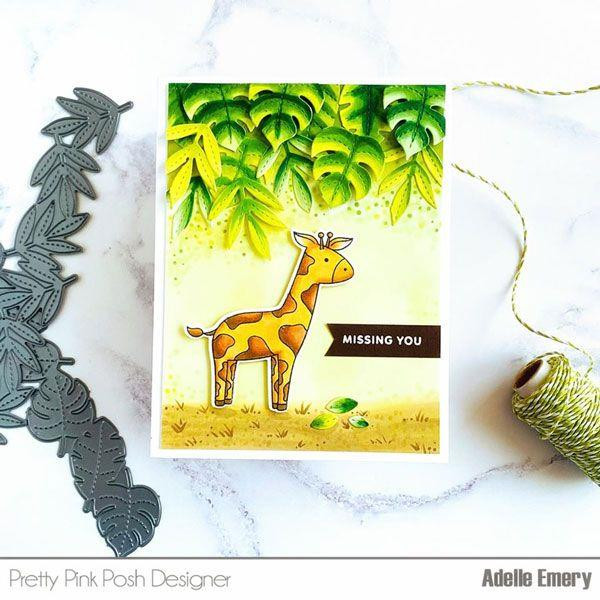 Jungle Additions, Pretty Pink Posh Clear Stamps -