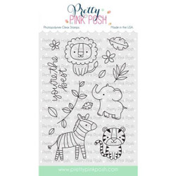 Jungle Friends, Pretty Pink Posh Clear Stamps -