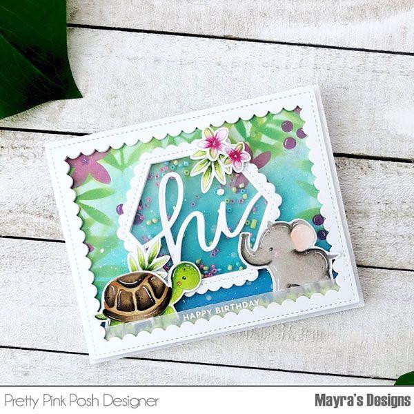 Layered Leaves & Flowers - 3 Pack, Pretty Pink Posh Stencils -