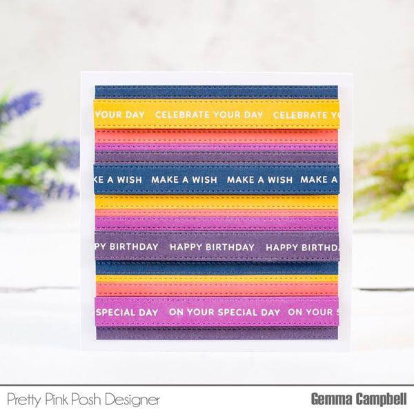 Simple Sentiments, Pretty Pink Posh Clear Stamps -