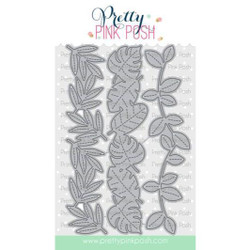 Stitched Leafy Borders, Pretty Pink Posh Dies -