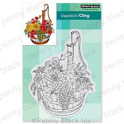 Barrel of Blooms, Penny Black Cling Stamps - 759668407354