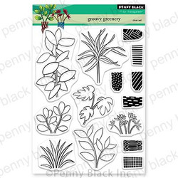 Groovy Greenery, Penny Black Clear Stamps - 759668307012