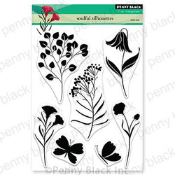 Soulful Silhouettes, Penny Black Clear Stamps - 759668306916