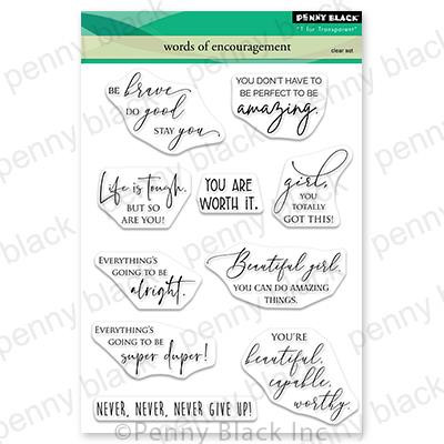 Words of Encouragement, Penny Black Clear Stamps - 759668307128