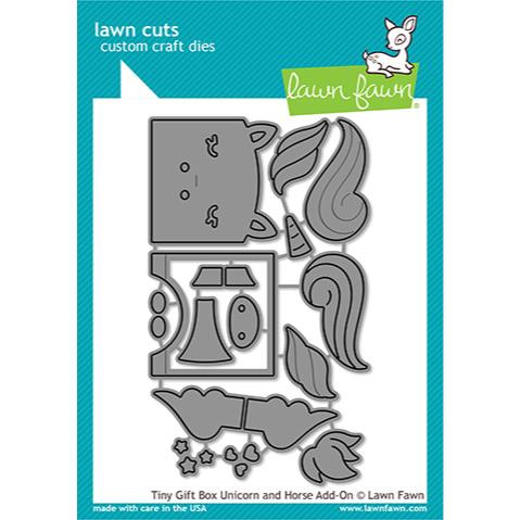 Tiny Gift Box Unicorn and Horse Add-On, Lawn Cuts Dies - 035292674189