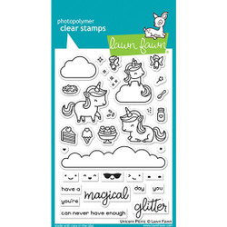 Unicorn Picnic, Lawn Fawn Clear Stamps - 035292675469
