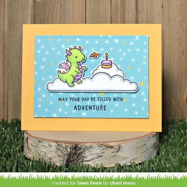 Little Dragon, Lawn Fawn Clear Stamps - 035292675506
