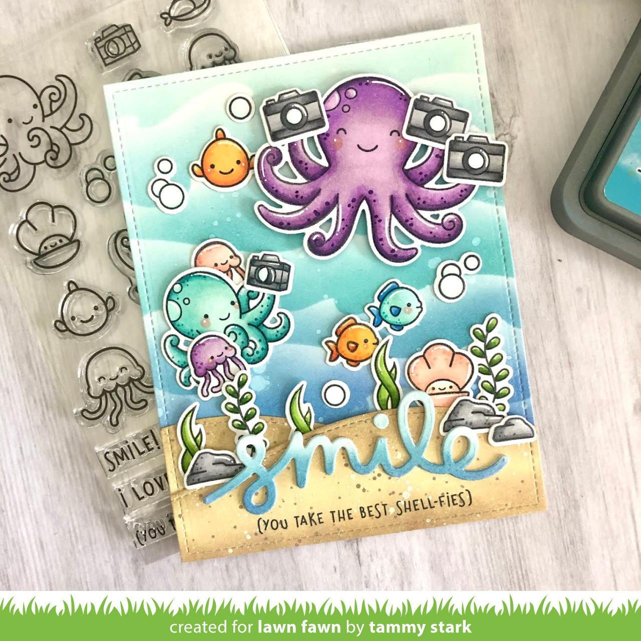 Ocean Shell-fie, Lawn Fawn Clear Stamps - 035292675568