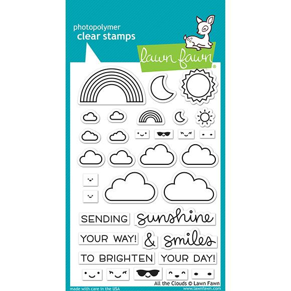 All the Clouds, Lawn Fawn Clear Stamps - 035292675582