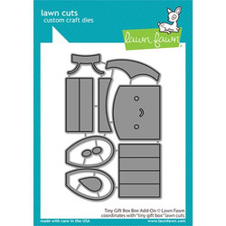 Tiny Gift Box Bee Add-On, Lawn Cuts Dies - 035292675735