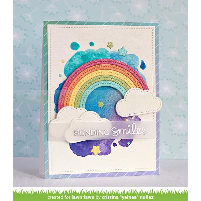 Stitched Rainbow, Lawn Cuts Dies - 035292675759