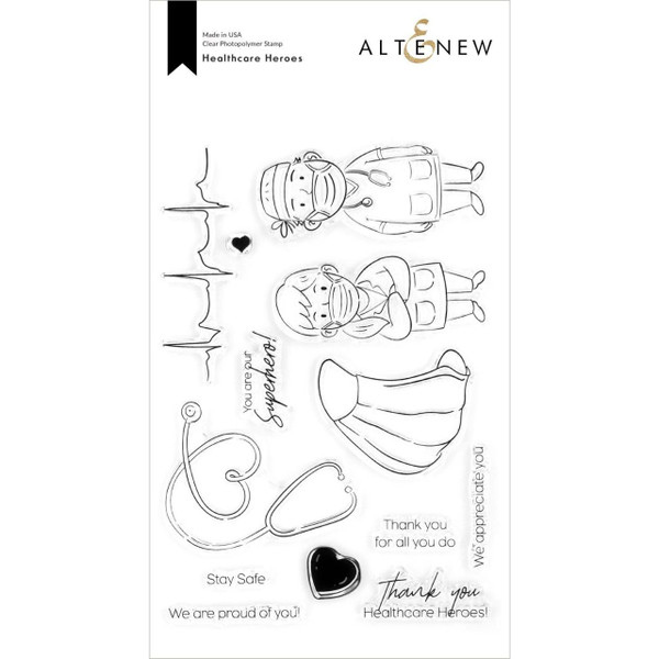 Healthcare Heroes, Altenew Clear Stamps - 737787267028
