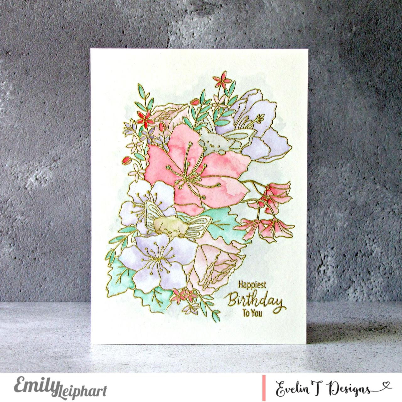 Floral Surprise, Evelin T Designs Clear Stamps -