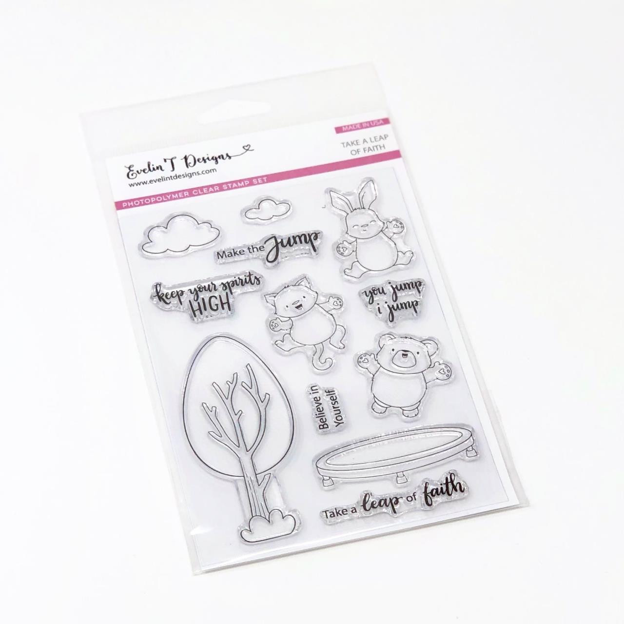 Take a Leap of Faith, Evelin T Designs Clear Stamps -