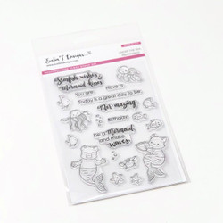 Under the Sea: MerFriends, Evelin T Designs Clear Stamps -