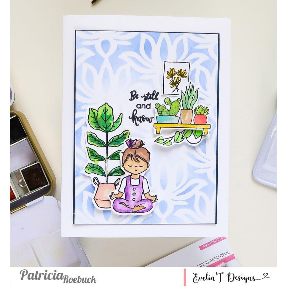 Life is Beautiful, Evelin T Designs Clear Stamps -