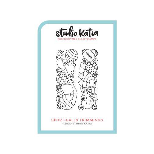 Sport-Balls Trimmings, Studio Katia Clear Stamps -
