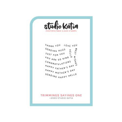 Trimmings Sayings One, Studio Katia Clear Stamps -