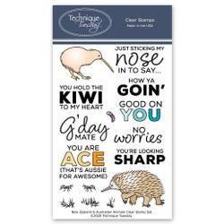 New Zealand and Australian Animals, Technique Tuesday Clear Stamps - 811784028537