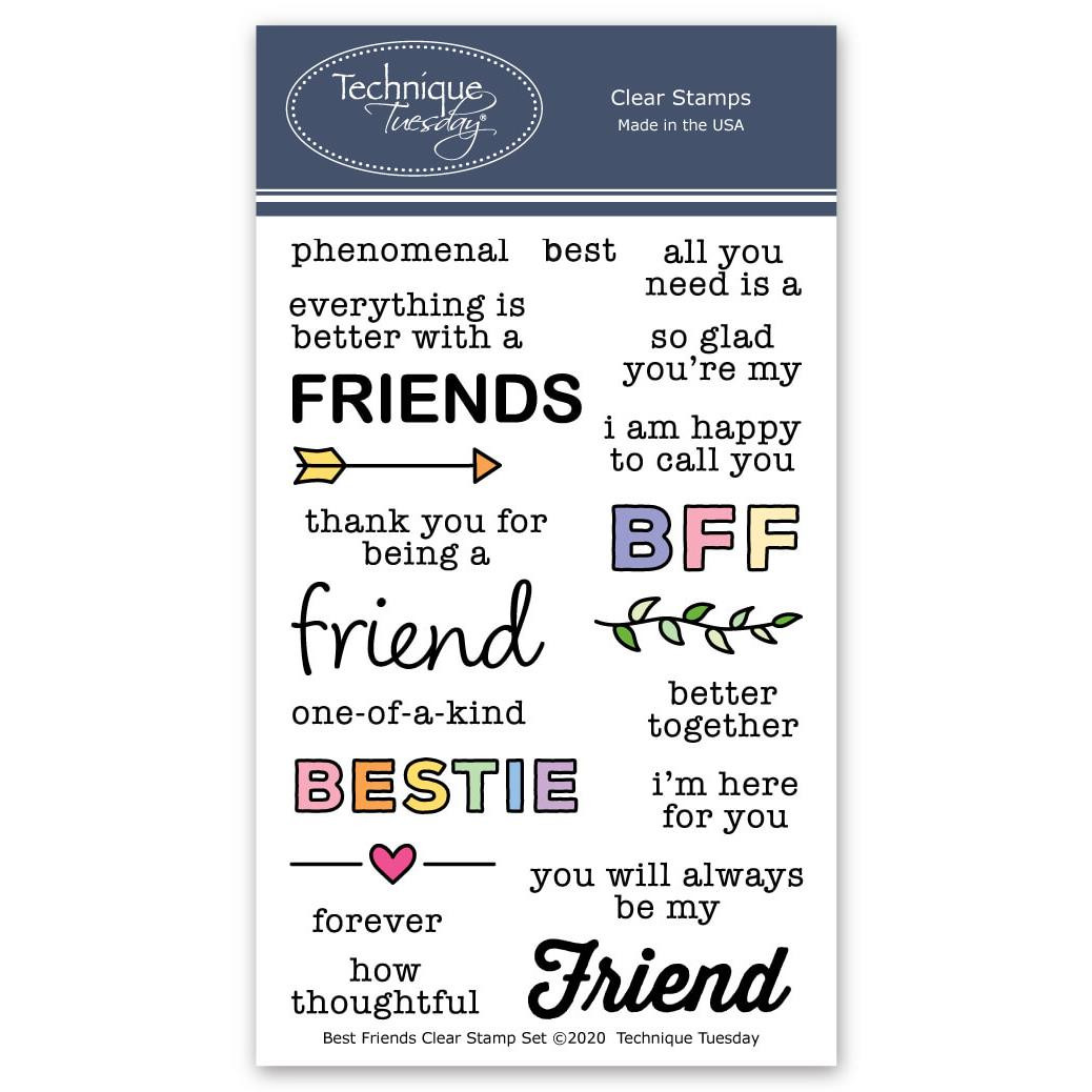 Best Friends, Technique Tuesday Clear Stamps -