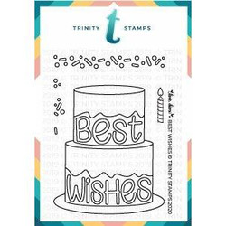 Best Wishes, Trinity Stamps Clear Stamps -