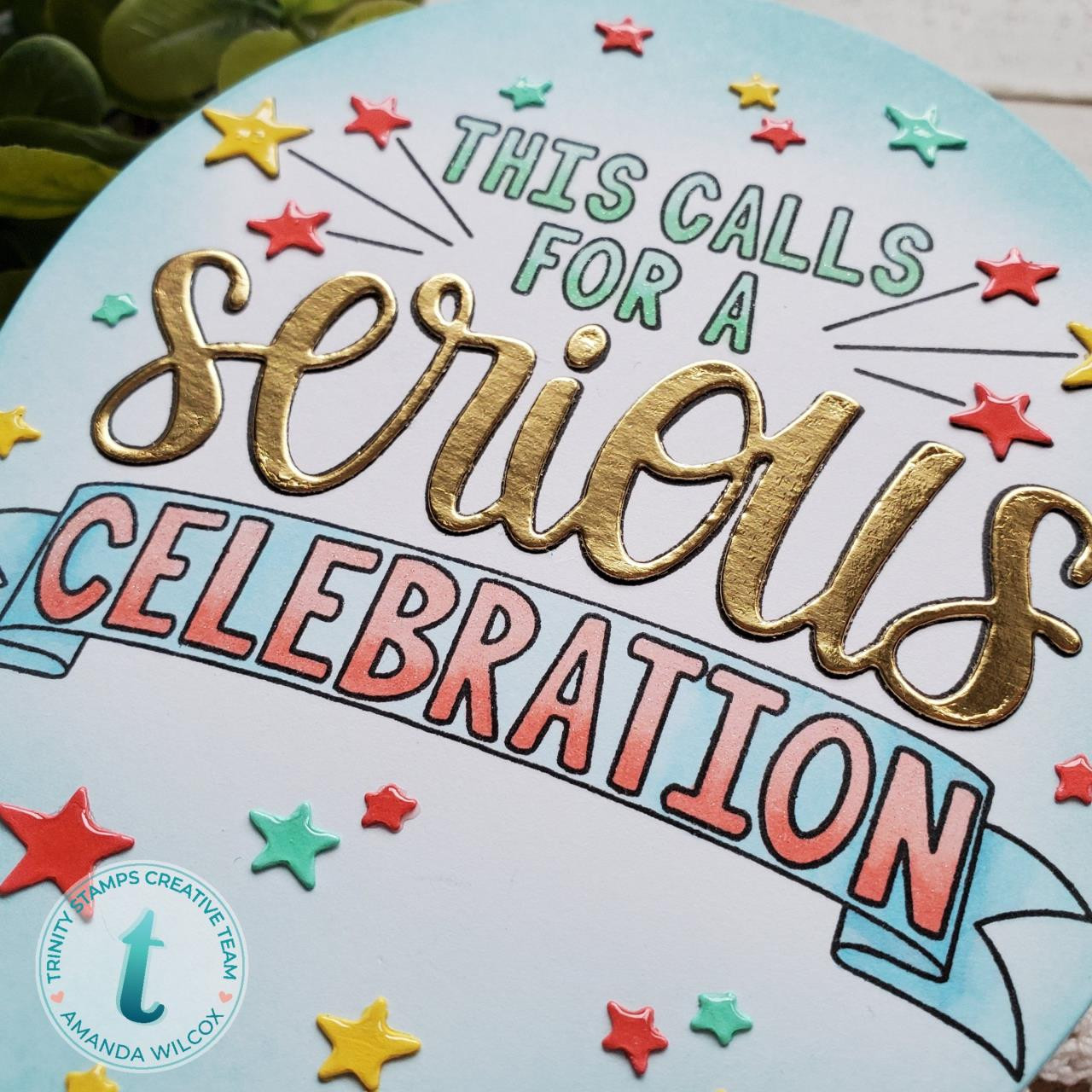 Serious Celebration, Trinity Stamps Clear Stamps -