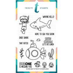 Shark Bait, Trinity Stamps Clear Stamps -