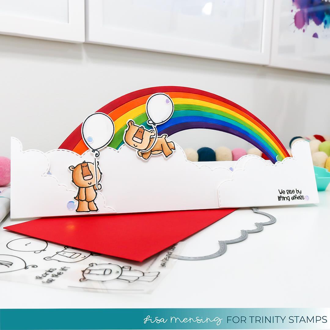 Slimline Series: Rainbow Builder, Trinity Stamps Dies -