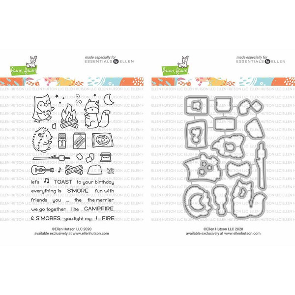 S'more the Merrier by Lawn Fawn, Summer of Stamping Stamp & Die Combo -