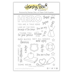 My Hero, Honey Bee Clear Stamps -