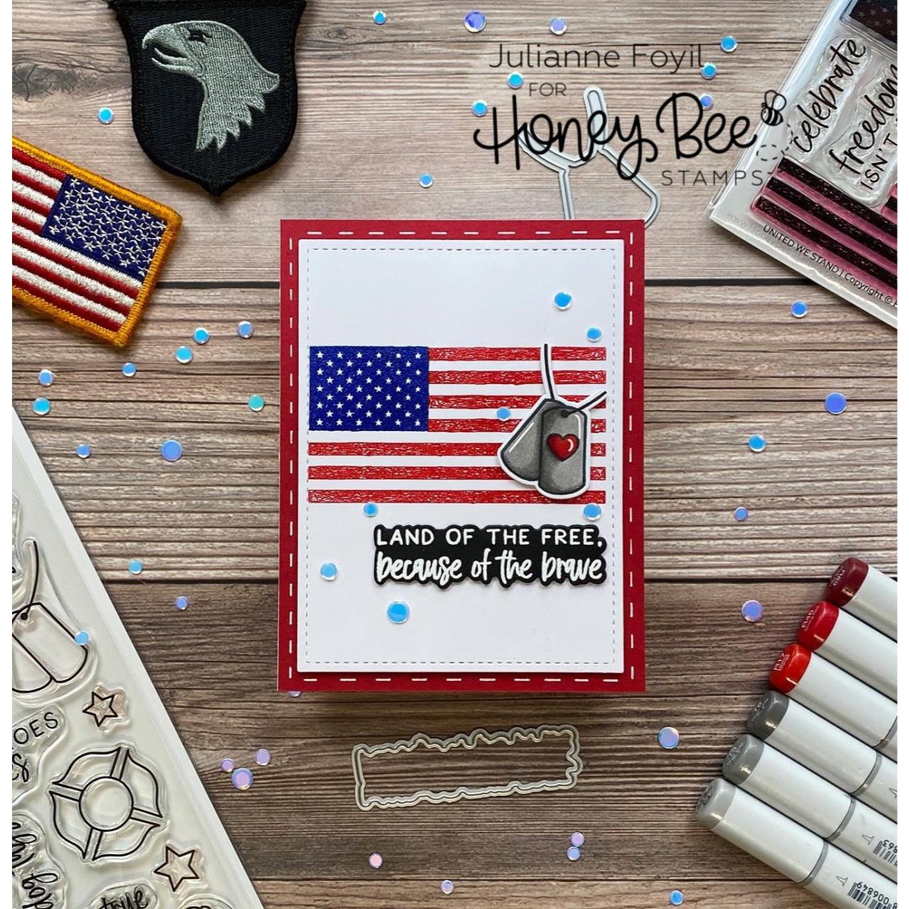 United We Stand, Honey Bee Clear Stamps -