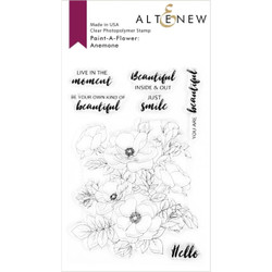 Paint-A-Flower: Anemone, Altenew Clear Stamps - 737787264126