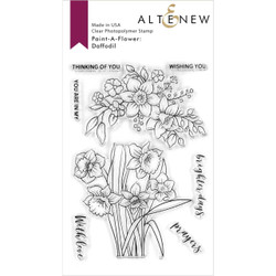 Paint-A-Flower: Daffodil, Altenew Clear Stamps - 737787264775