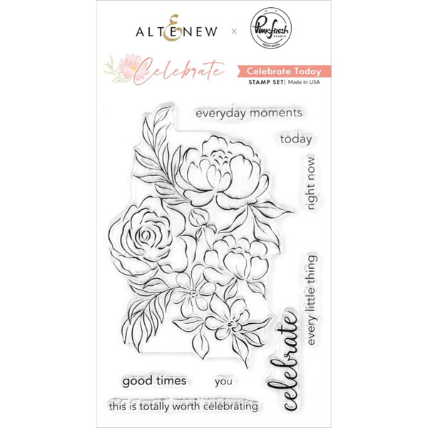 Celebrate Today, Altenew & Pinkfresh Studio Clear Stamps - 737787263112