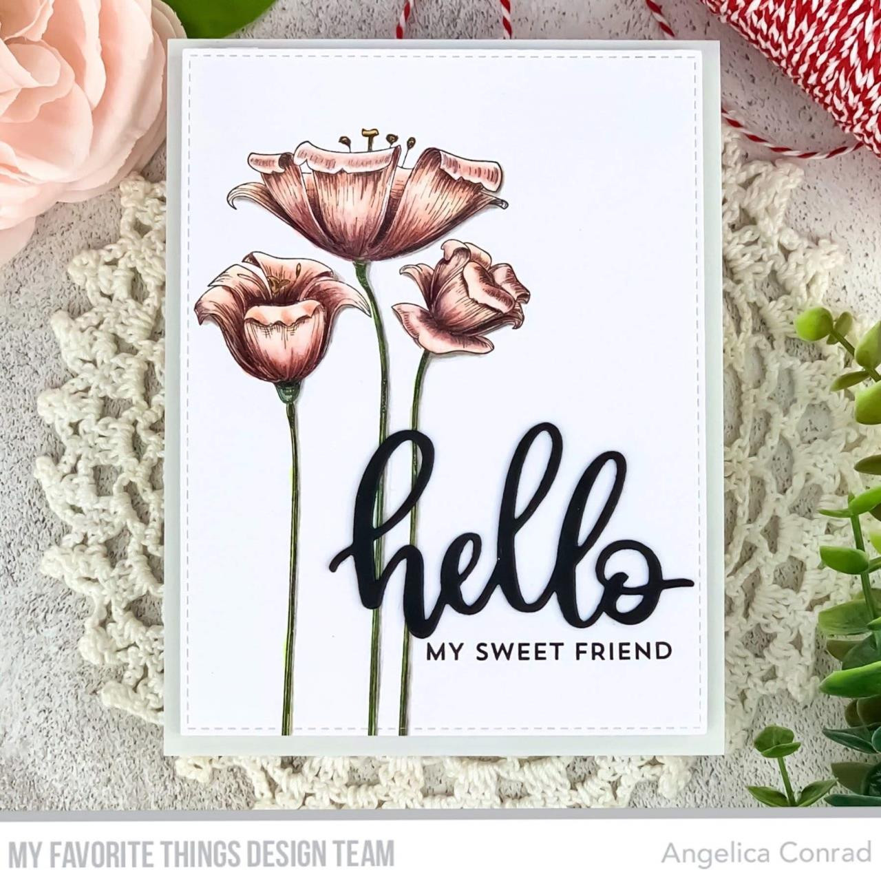 Fine-Lined Floral, My Favorite Things Cling Stamps - 849923035603