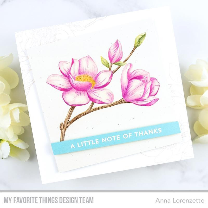 Magnolia Blossoms, My Favorite Things Cling Stamps - 849923035634