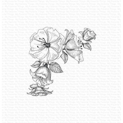 Corner Blooms, My Favorite Things Cling Stamps - 849923035658